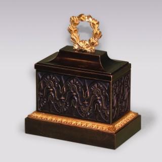 A 19th Century Regency period bronze and ormolu Encrier.