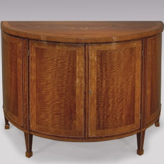 A fine Sheraton period demi-lune Commode.