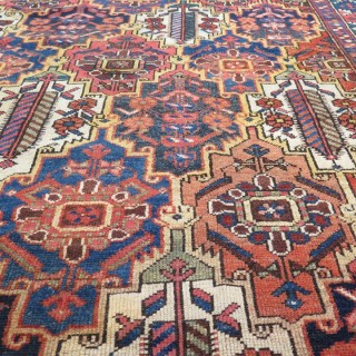 Antique Bakhtiar Carpet C. 1900