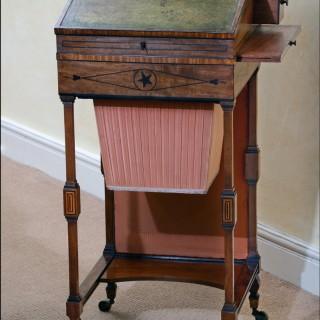 Bonheur de jour of ladies writing table circa 1800
