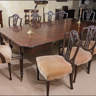 Set ten Hepplewhite style dining chairs