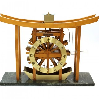 Japanese waterwheel clock, or Clepsydra