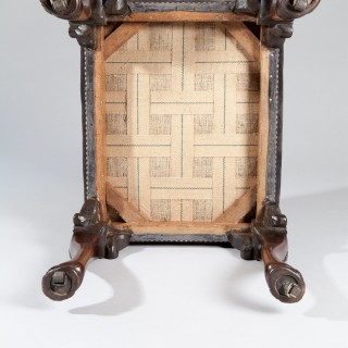 EARLY 18TH CENTURY GEORGE II WALNUT STOOL