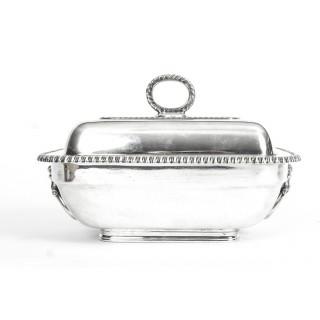 Antique Pair Sauce Tureens Entree Dishes Elkington C1860