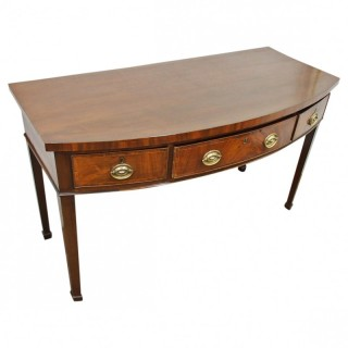 George IV Mahogany Bow Fronted Side Table
