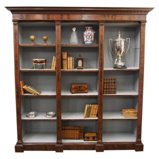 Large Mahogany Open Bookcase