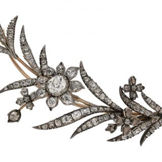Georgian diamond brooch/pendant, circa 1770.