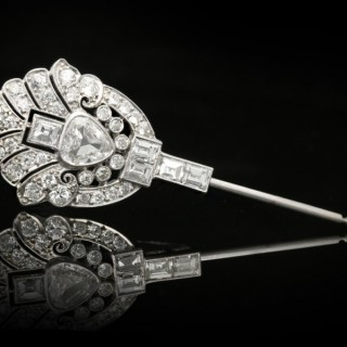 Art Deco diamond pin, circa 1935.
