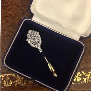 Art Deco diamond pin, circa 1935.