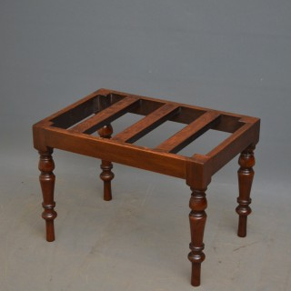 Victorian Luggage Rack – Walnut Bench