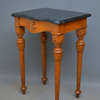 Stylish Victorian Console Table in Oak