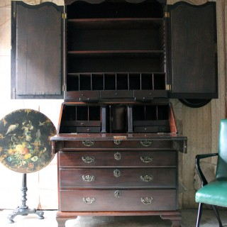 A Fine Quality Irish George II Mahogany Bureau Bookcase c.1740-50