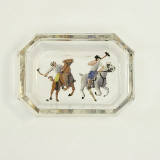 Polo Glass Pin Tray (England, c. 1930)