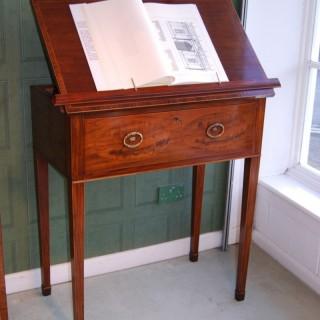 George III period secretaire reading table