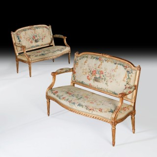 PIERRE LAROQUE PAIR OF NEO CLASSICAL MARQUISE