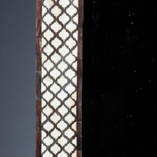 20TH-CENTURY GEOMETRIC PATTERN BONE INLAID WALL MIRROR