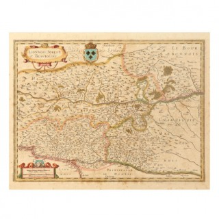 A GROUP OF FOUR 17TH CENTURY FRENCH LAND MAPS