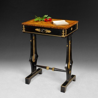 Regency period Calamander and Ebony freestanding occasional table