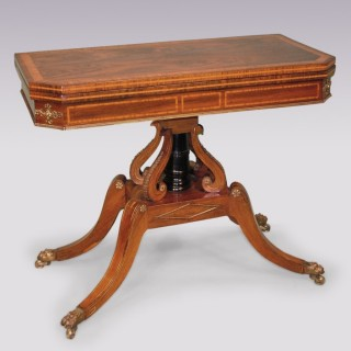 A Regency period rosewood Card Table.