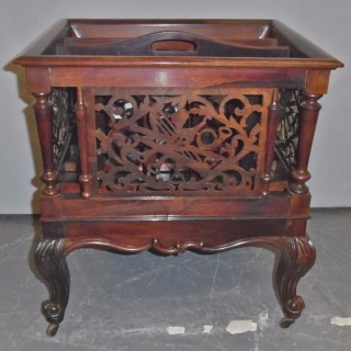 A small Victorian rosewood canterbury