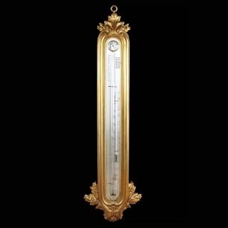 BREGUET GOLD ORMOLU BAROMETER – 19TH CENTURY