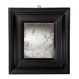 EARLY DUTCH RIPPLE MOULDED MIRROR
