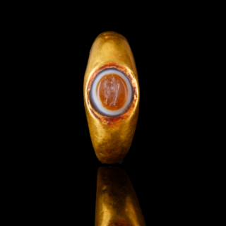 Roman Gold Ring with Harpocrates