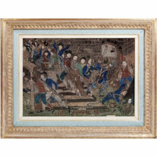 FRENCH REVOLUTION ROLLED PAPER PICTURE 'STORMING THE BASTILLE'