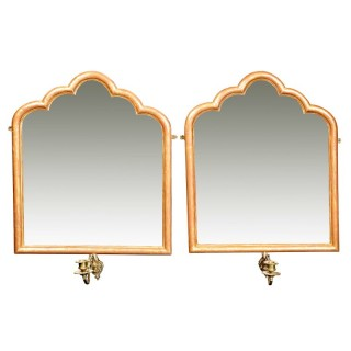 PAIR OF DECORATIVE GOTHIC GILTWOOD MIRRORS
