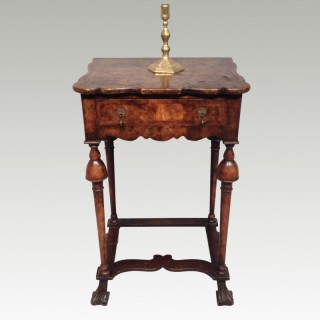 William and Mary walnut side table.