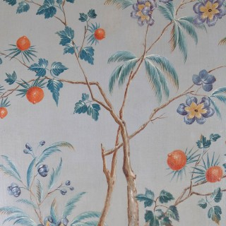 SET OF FOUR CHINOISERIE OIL ON CANVAS PAINTINGS