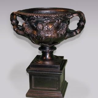 Antique early 19th Century cast-iron Warwick Vase.