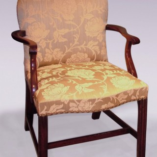 Antique 18th Century George III mahogany Armchair.