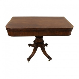 George IV Mahogany Fold Over Tea Table