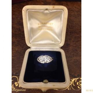 Chaumet diamond cluster ring, French, circa 1935.