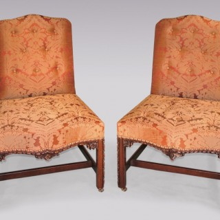 Pair of 18th Century Chippendale period mahogany Side Chairs.