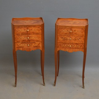 Pair of Tulipwood Bedside Cabinets