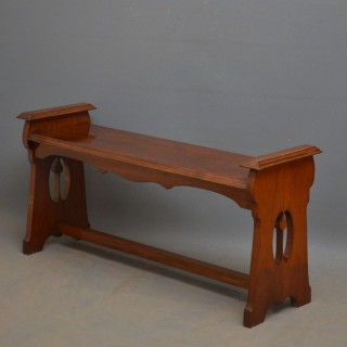 Arts and Crafts Solid Walnut Hall Bench