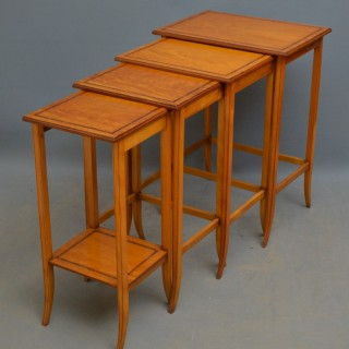 Edwardian Satinwood Quartetto Nest of Tables
