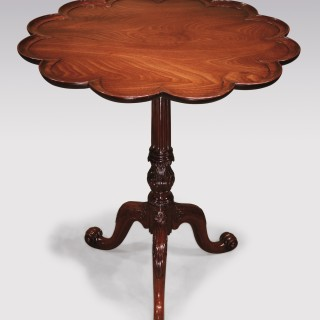 Mid 18th Century Chippendale period mahogany Tripod Table.