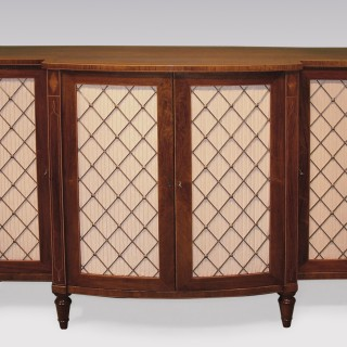 Early 19th Century rosewood breakfront bowfront Chiffonier.
