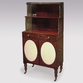 Early 19th Century Regency period figured mahogany Chiffonier