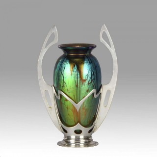 Wiener Werkstätte Secessionist Vase by Johann Loetz