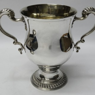 Antique George II Silver Cup and Cover