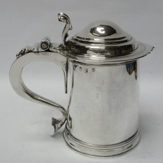 Antique Queen Anne Silver Tankard