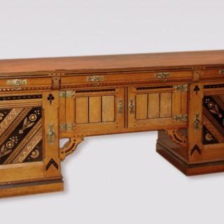 An unusual antique late 19th Century Oak Buffet.