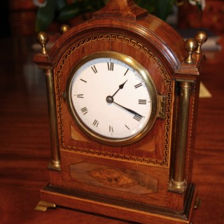 Mid 19th. century Mahogany, Partridgewood and inlaid Bracket Clock