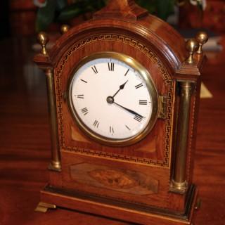 Mid 19th. century Mahogany, Partridgewood and inlaid Bracket Clock