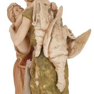 Antique Bohemian porcelain group by Royal Dux