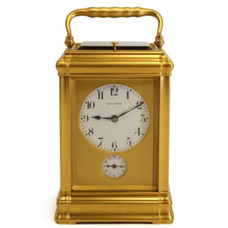 Grande sonnerie gorge carriage clock with alarm